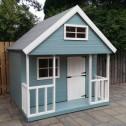 children's wooden playhouses - 2 storey mezzanine playhouse