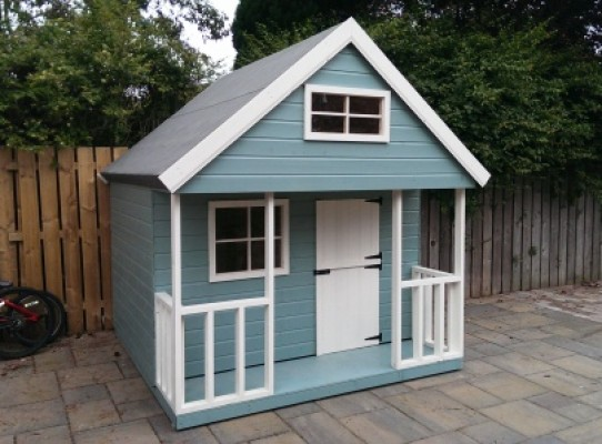 children's wooden playhouses - 2 storey mezzanine playhouse