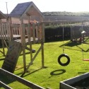 Wooden climbing frame and garden - whitethorn timber products