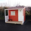 children's playhouses uk with front porch and white stable door