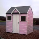 Children's playhouses painted pink