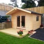 Garden Studio Log Cabins with felt shingles roof