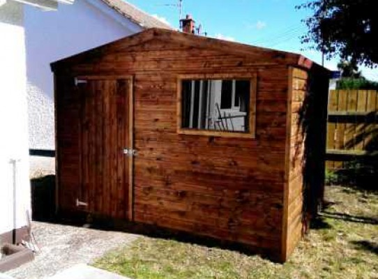 Heavy duty garden shed with 19mm cladding
