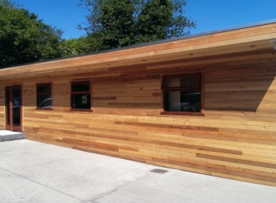cedar garden office building and pent roof