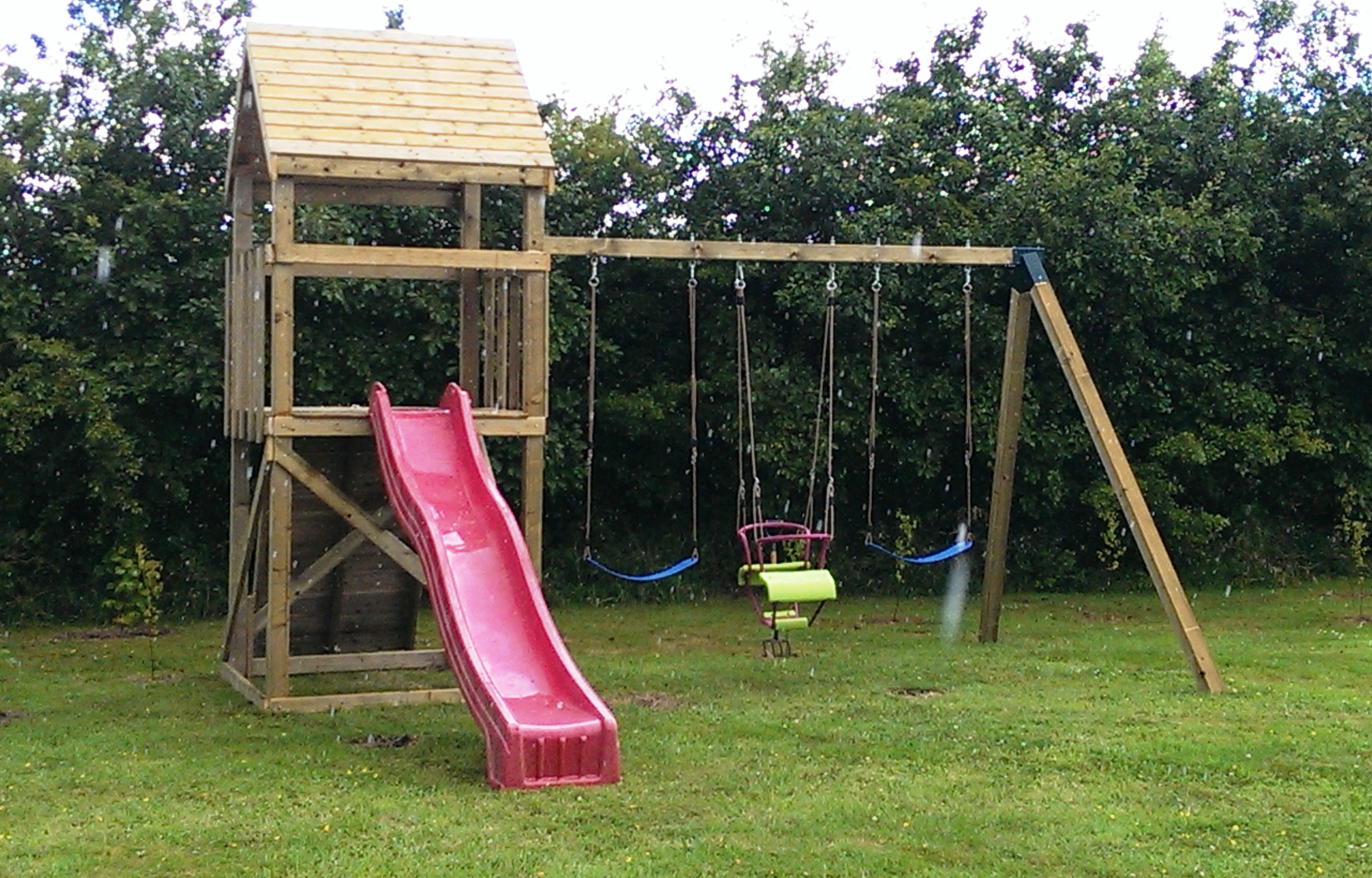 climbing frame triple swing set whitethorn timber stables