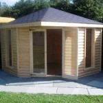 log cabin garden buildings - corner unit