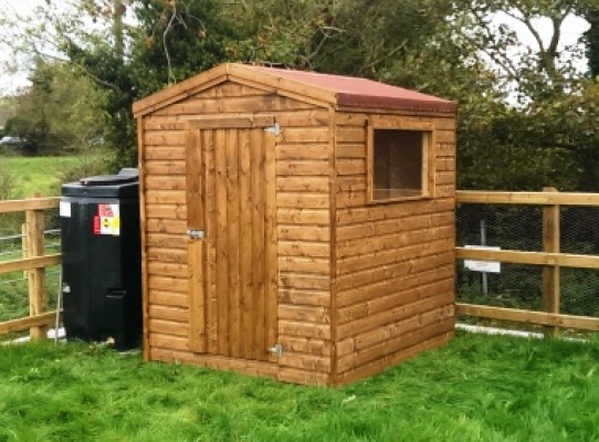 6 x 6 garden sheds with teak wood preservative finish