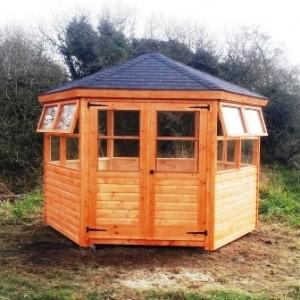 hexagonal summerhouses