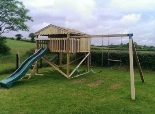 playhouse and climbing frame
