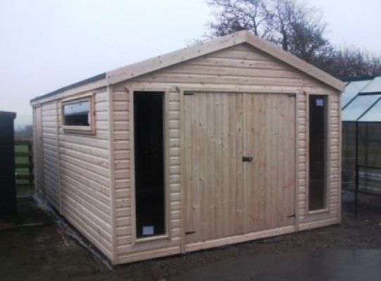garden sheds - timber garage