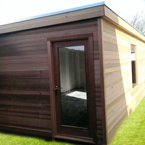 Garden gyms with pent style roof
