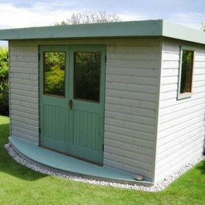Garden Music Studio with 2 tone paint finish and double doors