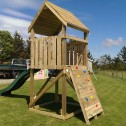 Single lookout towers and climbing wall