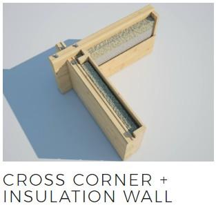 log cabins cross corner insulation joint
