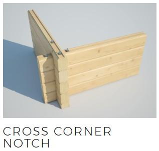 log cabin cross corner