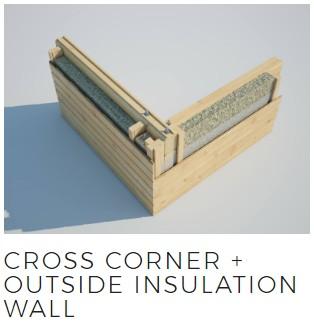 cross corner outside insulation wall joint