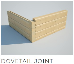 log cabin dovetail wall joint