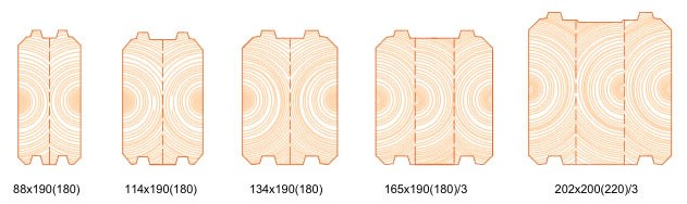 log cabins Ireland log types
